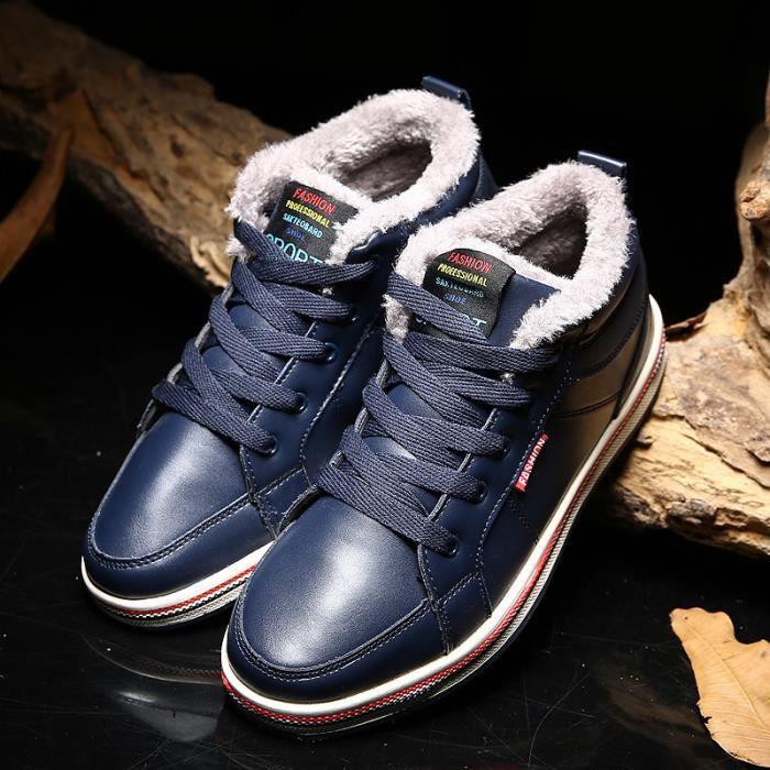 Bottes d'hiver chaussures pour hommes ainsi que des bottes de neige en coton velours chaud hommes 2p13x