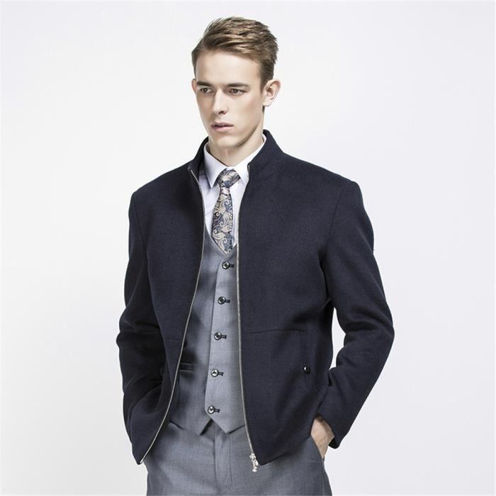 212bfebf47e7e Blouson Hommes personnalité Mode Jaquette homme Marque De Luxe Loisirs  fermeture éclair Mode Veston Grande Taille M-3XL