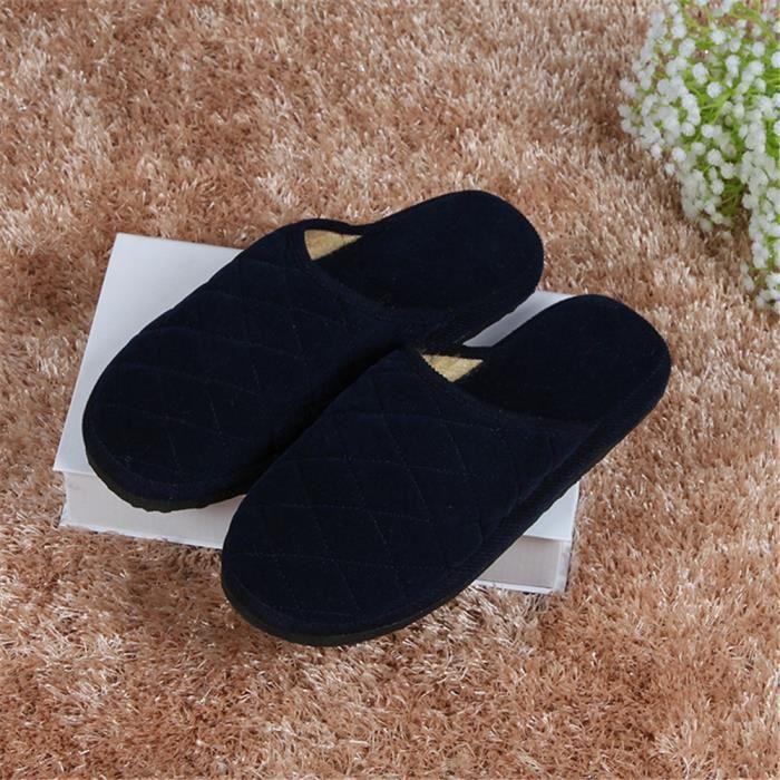 Hommes Chausson éLastique Pantoufles d'intérieur Nouvelle Mode Chaussures Anti-Glissement Plusieurs Couleurs 39-44