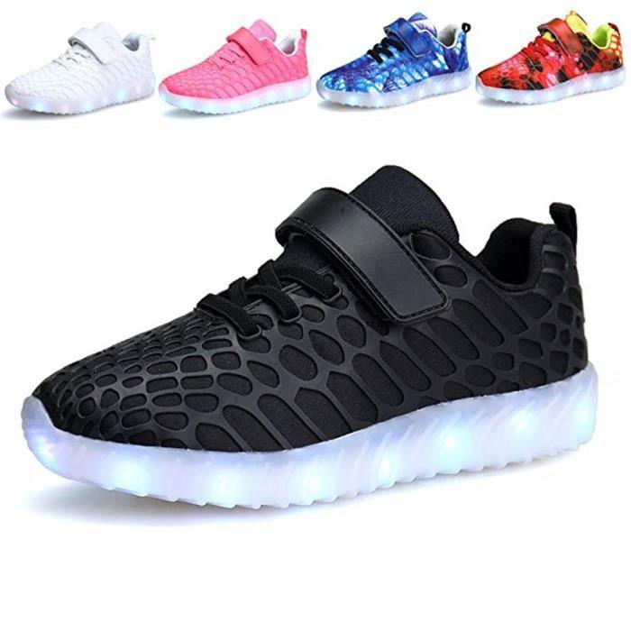 79086b3792b Basket Basket Lumineuse Chaussures Led Lumière Basket Led Garçon Fille - 7  Couleurs - USB Rechargeable Chaussures