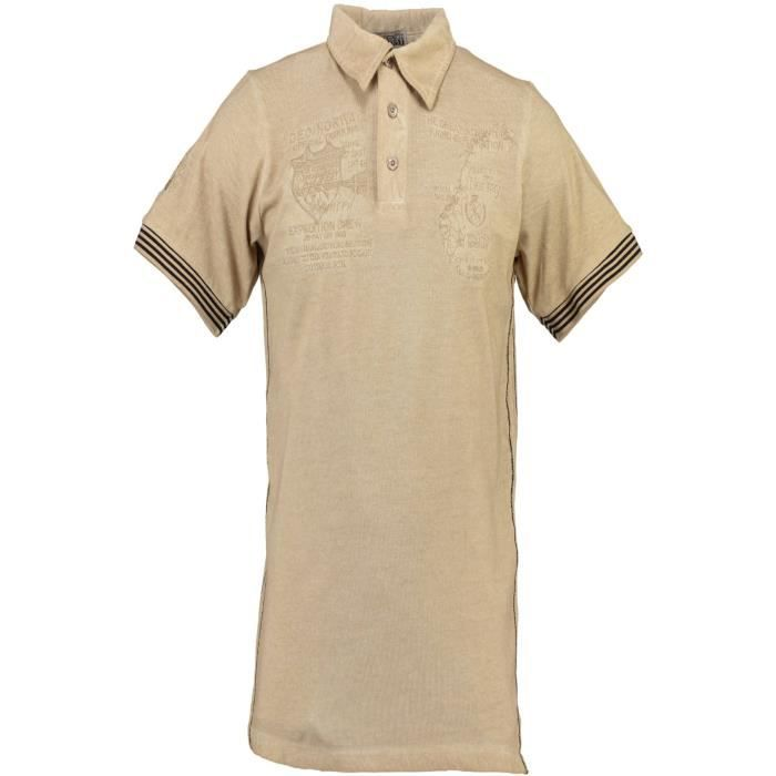 Avec Courtes Norway Polo Les Beige Homme Manches Geographical GLzjUpqSMV