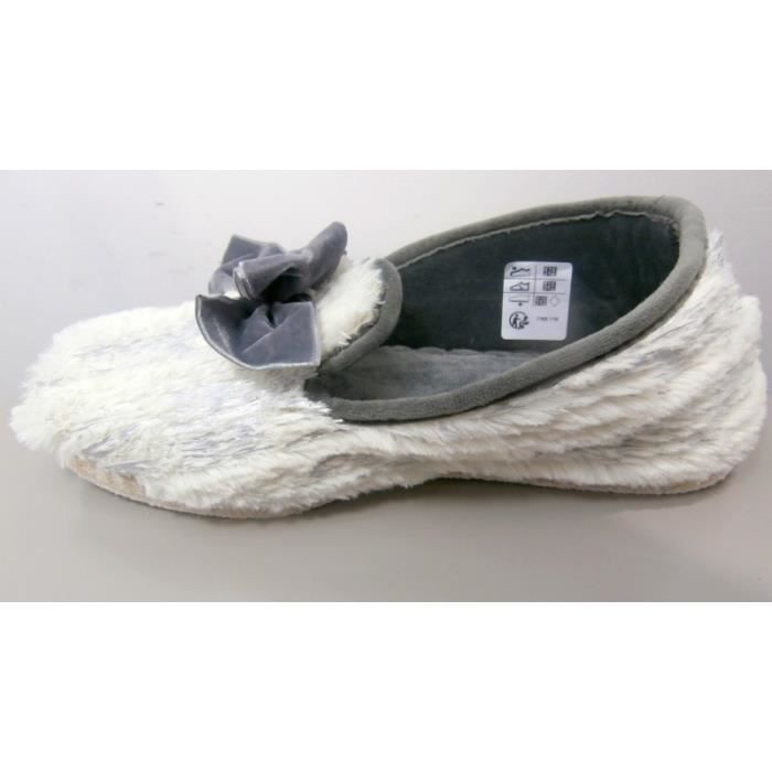 chaussons rondinaud femme castres blanc