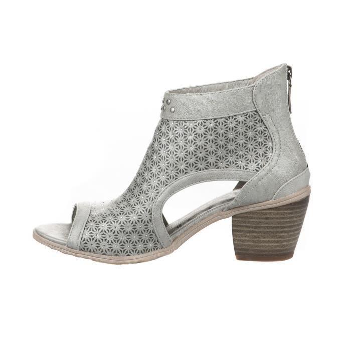 Nu pieds femme - MUSTANG - Gris argent - 1221809 - Millim