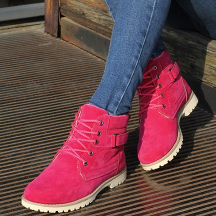vif PO131 chaud femmes de de bandage des mode gardent au Sidneyki®Les hautes bottes Rose w7qOpqC