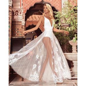 248a75f6660 ... ROBE Les femmes sexy robe en dentelle blanche camisoles. ‹›