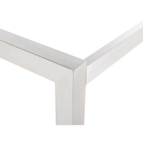 Table de jardin en bois acajou 220 x 100 cm Grosseto - Achat / Vente ...