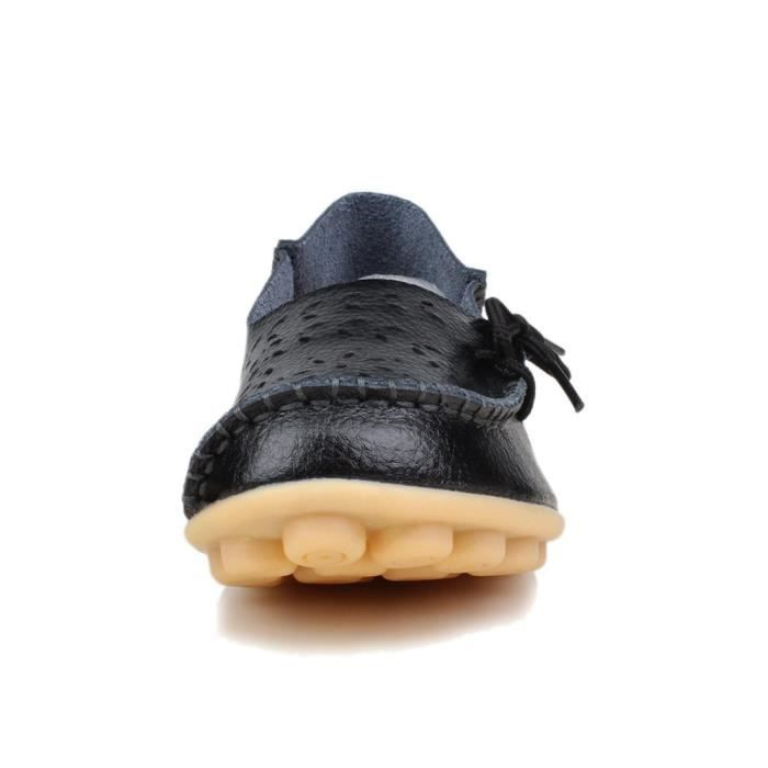 Souliers simple en cuir Chaussures plates CIR6A Taille-38