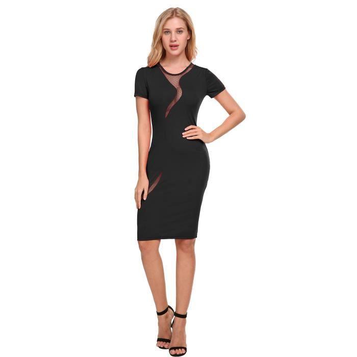 Womens Pencil Dress Classic Slim Fit Midi Work Wear 2NANLG Taille-38