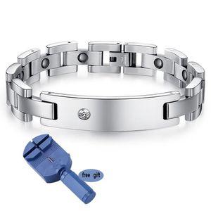 BRACELET - GOURMETTE Women Titanium Magnetic Therapy Bracelet Magnétiqu