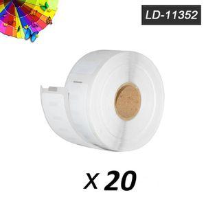 ETIQUETEUSE - TITREUSE Lot de 20 Étiquettes compatibles Dymo 11352 (25mm