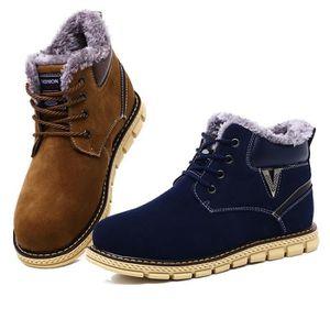 Botte De Neige Coton Confortable Classique Homme Hiver Chaussure Garde Au Chaud Plus De Cachemire Couleur Bottine Antidérapant 39-44 vl4WfHo