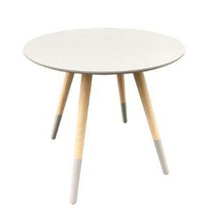 TABLE D'APPOINT Table café gris D48 Mileo MDF, L.48 x l.48 x h.45