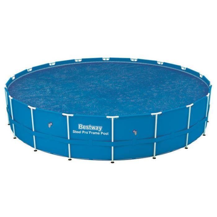 BESTWAY Bâche solaire Ø 527cm pour piscine Frame Pool Ø 549cm