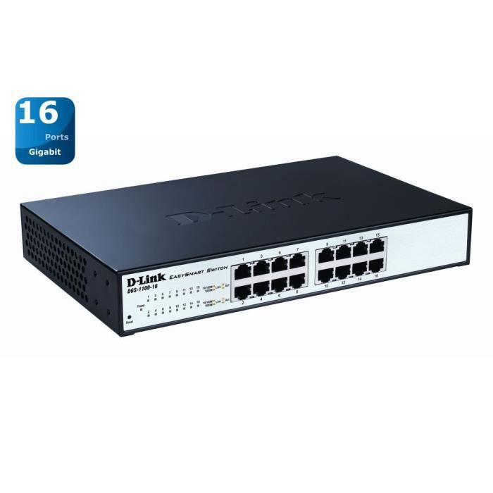 D-LINK Switch Easy Smart 16 ports - DGS-1100-16 -  10/100/1000Mbps