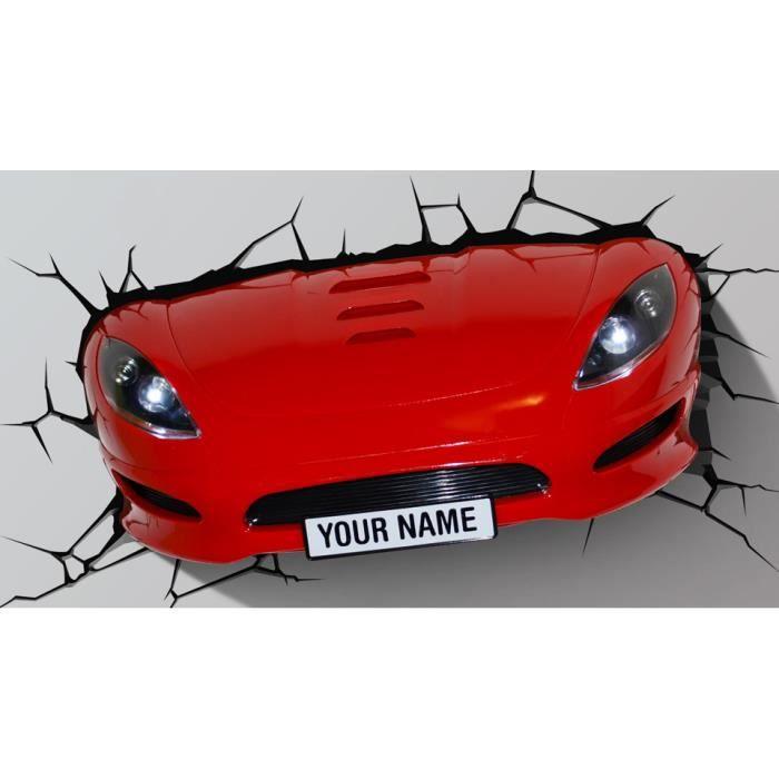 veilleuse murale 3d pare chocs voiture rouge rouge achat vente veilleuse b b 0816733001173. Black Bedroom Furniture Sets. Home Design Ideas