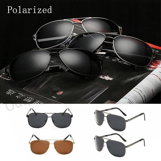 Conduite de nuit Lunettes de sole noir noiril polarisantes cool Homme Argent Or de luxe pour les hommes UV400 Lunettes