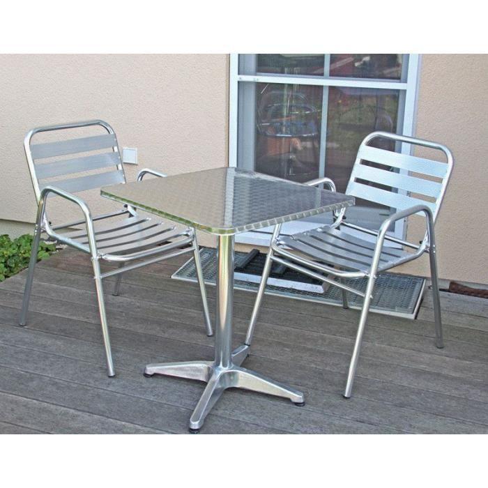 Ensemble bistrot M28 aluminium - Achat / Vente salon de jardin ...