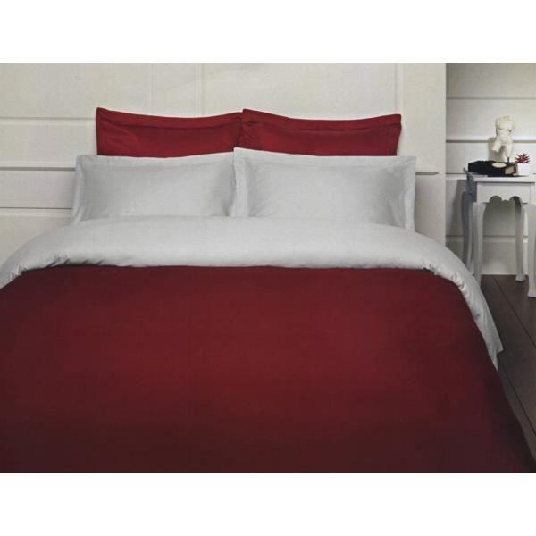 housse de couette 200x200 bordeaux achat vente pas cher. Black Bedroom Furniture Sets. Home Design Ideas