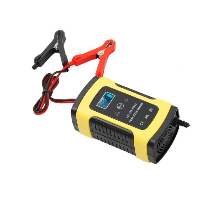CHARGEUR DE BATTERIE Chargeur de Batterie 12 V Chargeur Voiture Moto Af