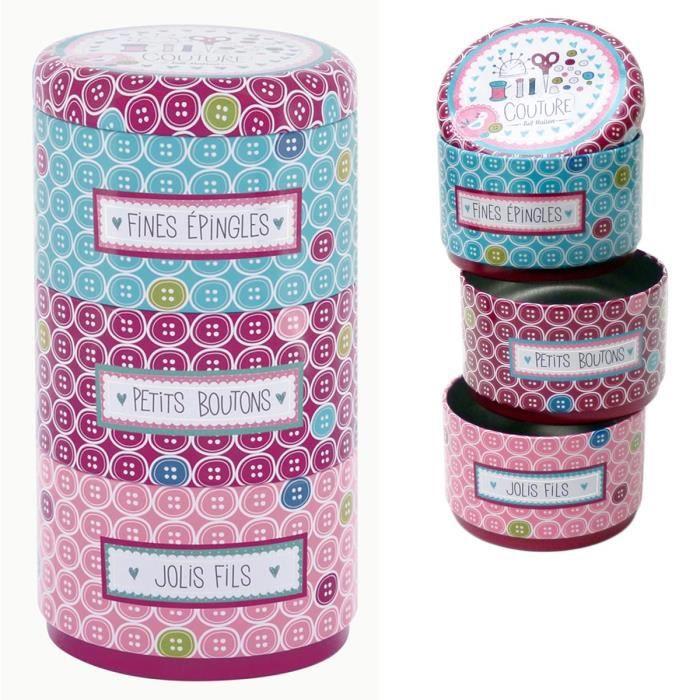 Boites de rangement couture empilables fait maison en m tal pour pingles boutons fils id e - Couture pour la maison ...