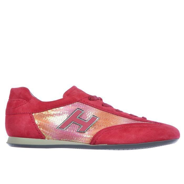 Chaussures baskets sneakers femme en daim olympia h flock Hogan 2XMHKHsD0c