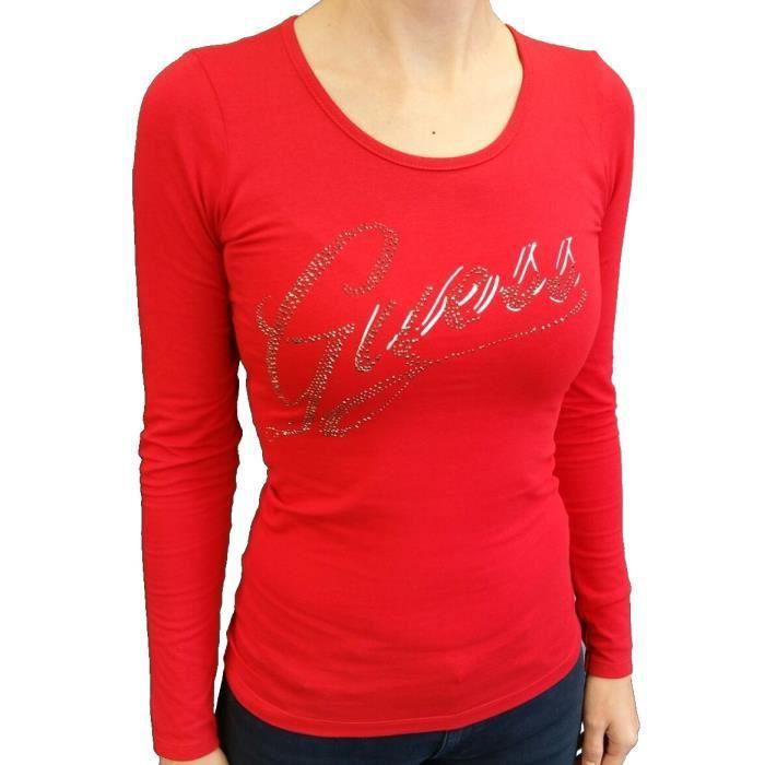 T-Shirt Guess manches longues pour femmes