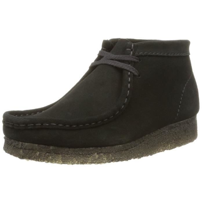 Femme Achat T1vi9 Clarks WallabeeBoots Noir Originals Ybgvy7f6