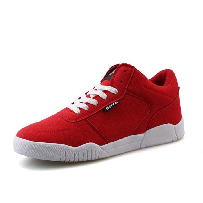 Des basket Hommes AntidéRapant Chaussures DéContractéEs Chaussure résistantes à l'usure personnalité Basket Mode Grande hknB75A