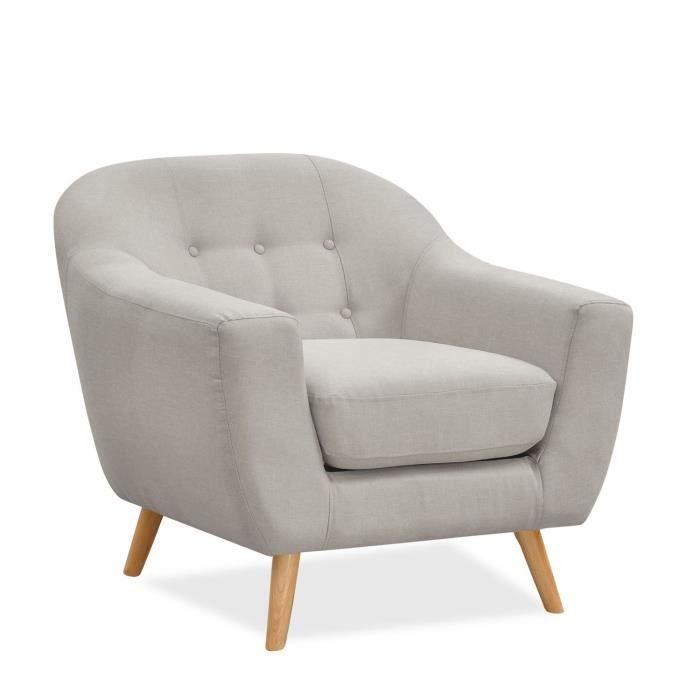 Sofa une place COUSHTO -Tejido--Beige-Unique - Achat ...