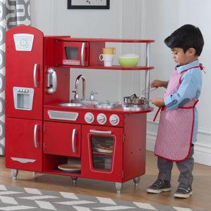 dinette cuisine kidkraft cuisine enfant vintage rouge with cuisine kidkraft occasion. Black Bedroom Furniture Sets. Home Design Ideas