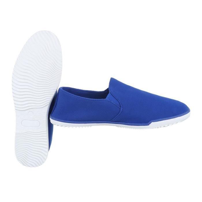 Femme chaussures flâneurs Slipper bleu 41 T6QkOVLDq