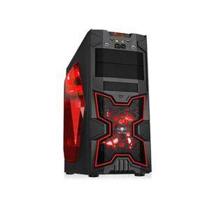 Spirit of Gamer Boîtier PC X-FIGHTERS 41 Red Victory Fen?tre