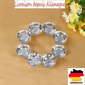 POIGNÉE DE PORTE 16pcs Poignées Boutons Transparent Diamant Verre C