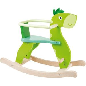 PORTEUR - POUSSEUR Cheval à bascule Dinosaure en bois haute qualitée
