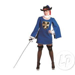 DÉGUISEMENT - PANOPLIE Robe mousquetaire bleu femme taille s/m