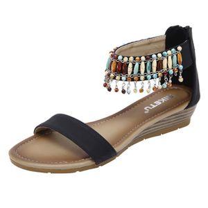 chaussures de séparation nouveau style de vie mode Chaussure femme ete talon compense - Achat / Vente pas cher