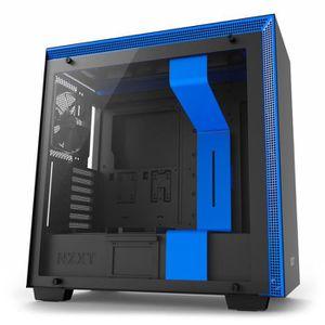 BOITIER PC  NZXT Boîtier PC H700 Noir/Bleu (CA-H700B-BL)