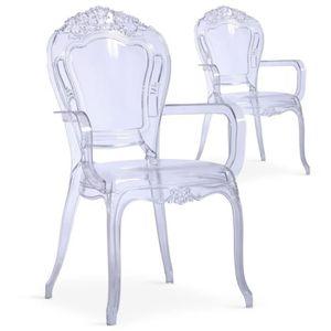 Chaise transparente achat vente chaise transparente for Chaise pvc transparente