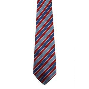 CRAVATE - NŒUD PAPILLON Premier - Cravate rayée - Homme TU Bleu roi/rouge