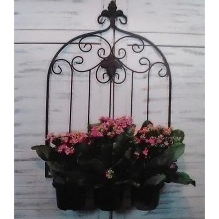 support de plante mural en fer forge etagere de plante pliant deco jardin etagere jardiniere pot. Black Bedroom Furniture Sets. Home Design Ideas