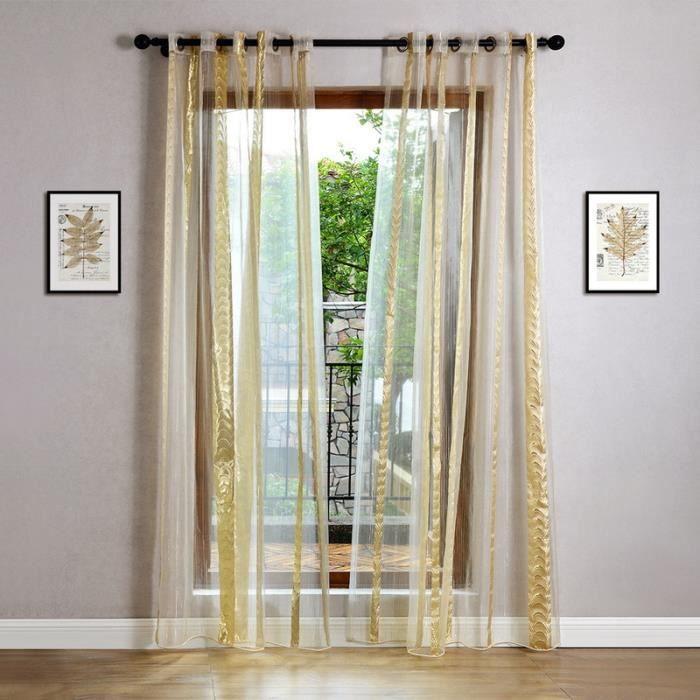 double rideaux voilage achat vente pas cher. Black Bedroom Furniture Sets. Home Design Ideas