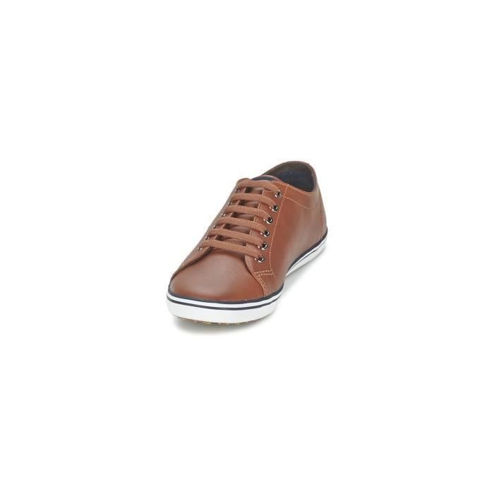 CHAUSSURES FRED PERRY KINGSTON CUIR MARRON xB9W3