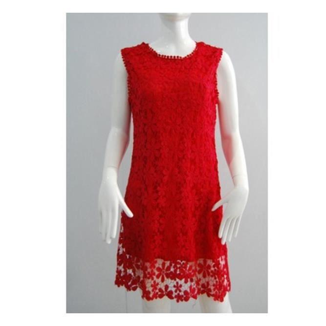 Robes de dentelle sans manches été sexy causale soirée robe de la mode dames mini Vestido