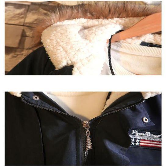 Fermeture Plus Nouveau Marque Homme Encapuchonné Unie Vêtement Éclair De Remplissage Loisir Masculin Couleur Fluff Mode Coton Parka xwAYpnzw