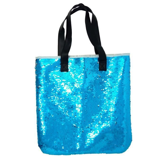 Paillettes sirène Paillettes magique réversible Glitter Sac à bandoulière rétro sac à main fourre-tout P6LPL