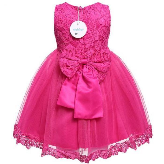 robe enfants filles Cute sans manches maille dentelle fête Tutu bulle de mariée