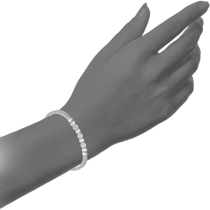 Sbt1405 - Bracelet Femme - Argent 925-1000 5.3 Gr - Oxyde De Zirconium FD0Z6