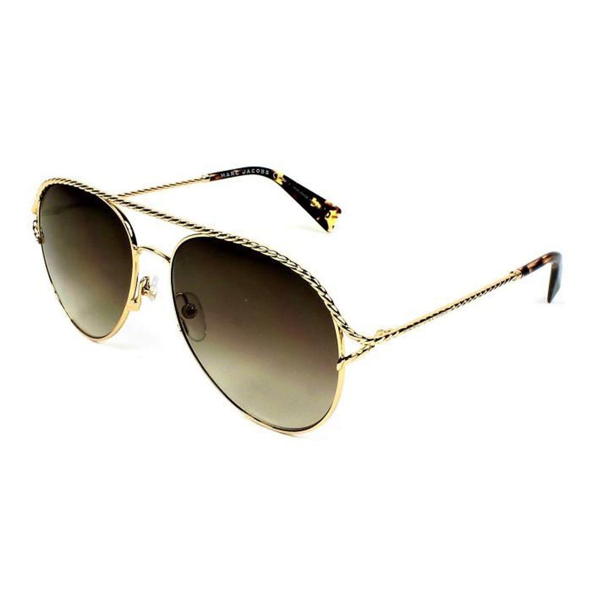 e197f516a6d62b MARC JACOBS 168 06JJL Or - Achat   Vente lunettes de soleil Femme ...