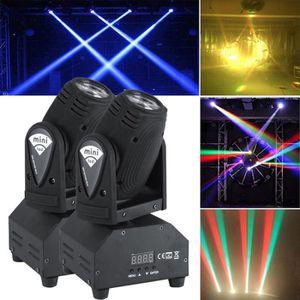 LAMPE ET SPOT DE SCÈNE 2PCS Eclairage de scène 50W RGBW LED 4in1 Faisceau