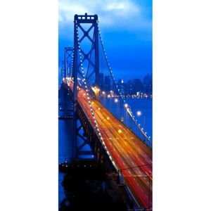 APPAREIL PHOTO BRIDGE Night Bridge, paper photo mural, 90x202 cm, 1 part